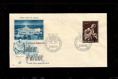 Vatican 1964 First Day Cover # 384 New York World's Fair !!