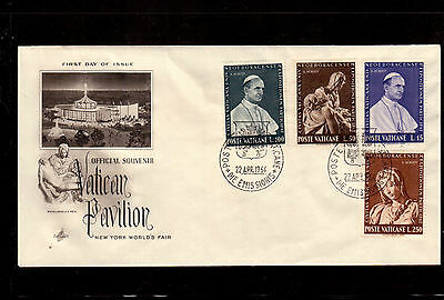 Vatican 1964 First Day Cover # 383/86 Set, New York World's Fair !!