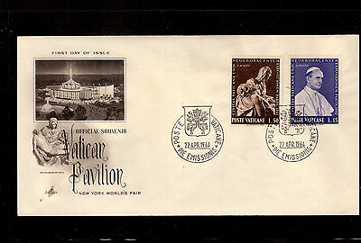 Vatican 1964 First Day Cover # 383-84 New York World's Fair !!