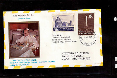 Vatican 1965 Souvenir Cover, Xvii National Eucharistic Congress In Pisa !!