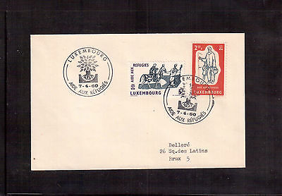 Luxembourg 1960 First Day Cover, # 357/58 World Refugee Year !!