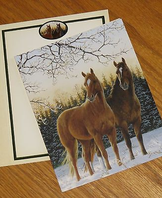 Winter Glow Persis Clayton Weirs Art horses 2004 Lang Bookmark Xmas Cards 5ct