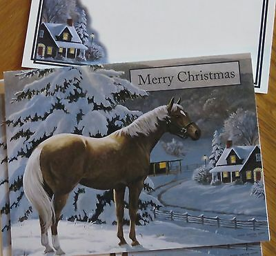 Warm Glow Persis Clayton Weirs Artwork horse 2006 Lang Christmas Cards 4ct