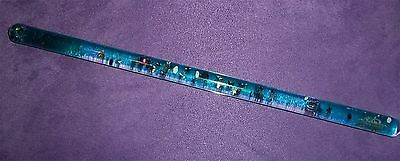 Vintage Space Tubes Usa 1989 Wildewood Kaleidoscope Stars Moons Blue Glitter Toy