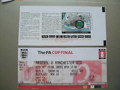 2005 F.A. Cup Final Ticket Manchester United v Arsenal mint condition.
