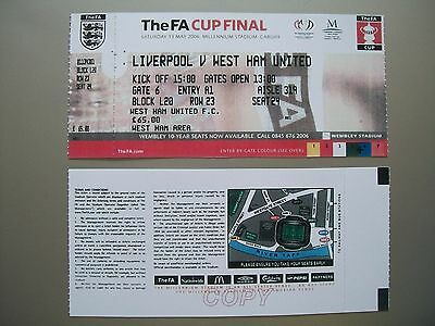 2006 F.A. Cup Final Ticket West Ham United v Liverpool Mint condition