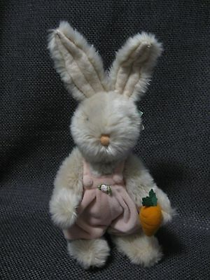 RUSS BERRIE BOOMER rabbit stuffed animal plush fully jointed handmade with TAGS!