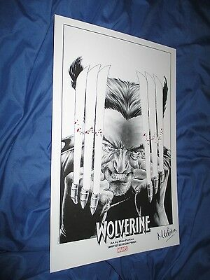 WOLVERINE Signed & Bloodied Art Print by Mike Perkins (X-Men/Original/Marvel)