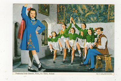 Traiditonal Irish Dancers Ennis Co Clare Ireland Postcard 984a