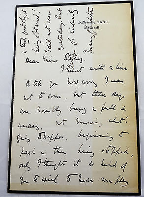 Mary Gladstone 10 Downing Street Letter