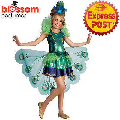 CK952 Peacock Girls Costume Child Animal Bird Halloween Book Week Party Outfit