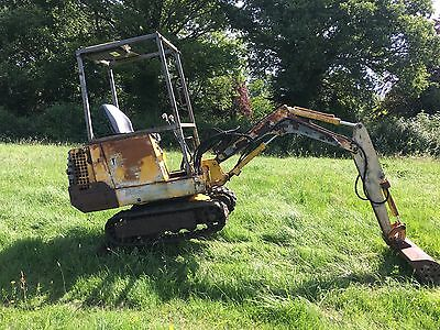 Jcb 801 1.5 Ton Mini Digger Excavator With Two Buckets Digger