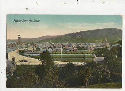 Peebles From The South 1915 Postcard 861a