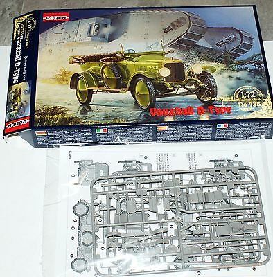 Vauxhall D-type British staff car WWI in 1/72 Roden
