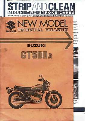 Suzuki Gt500A Technical Bulletin 1975