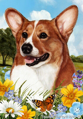 Garden Indoor/Outdoor Summer Flag - Sable Pembroke Welsh Corgi 180451