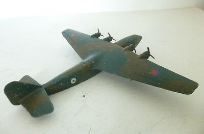 Very Rare 1940' Dinky Toy Aircraft WW2 Camouflaged RAF Roundels Ensign Airliner
