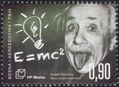 Bosnia Herzegovina 2016 Einstein/Space/Science/Mathematics/People 1v (b2756a)