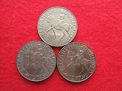 1977  'SILVER JUBILEE OF CORONATION  COMMEMORATIVE  CROWN COIN  ( 25 pence )