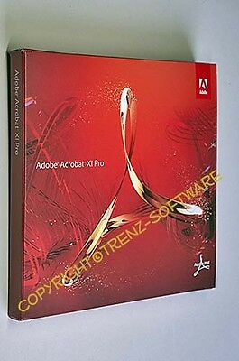 Adobe Acrobat XI (11) Pro Windows deutsch mit DVD (kein Download) -19% MwSt
