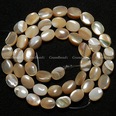 """Big Sale10 strands x 6x8mm Brown Oval MOP Shell Mother Of Pearl Beads 15.5""""GB116"""