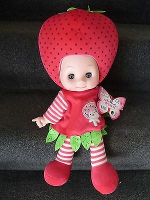 BNWT Musical Plush Doll Cute Strawberry Singing Me Li Hua S.L Doll approx 16""