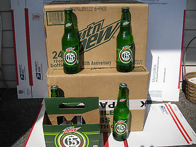 4 Le Mountain Dew,mtn.dew, Bottles, 65Th Yr. Southern Tradition, 12 Oz. New