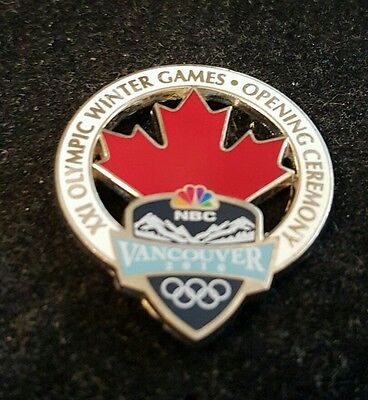2010 Vancouver Olympic NBC MAPLE LEAF MEDIA  pin