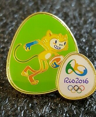 2016 Rio Olympic TIME BRASIL* TEAM *VINICIUS  MASCOT * FOOTBALL *pin