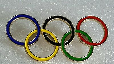 2106 BRASIL RIO OLYMPIC  RINGS CUTOUT LOGO EXLARGE 2 1/2 inches long pin