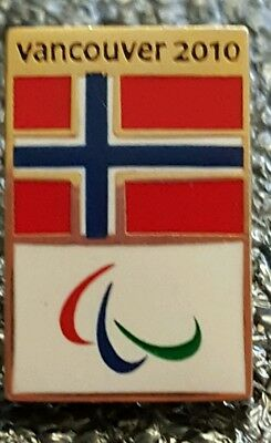 2010 Vancouver Olympic NORWAY PARALYMPIC  NOC  pin