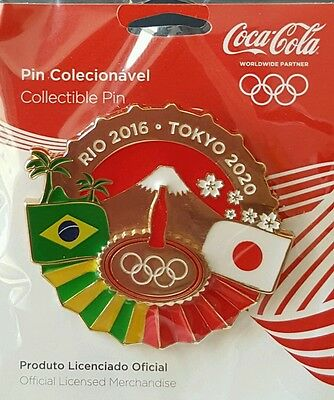 2016 Rio Olympic COCA COLA COKE TOKYO  RIO BRIDGE  GORGEOUS NEW LARGE   pin