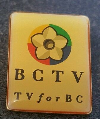 BCTV BRITISH COLUMBIA VINTAGE TV  BROADCASTER  CANADA  pin