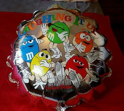 "NEW, Wholesale Lot of 10 Lg. 24"", M&M chocolate Mylar Balloons, double sided"
