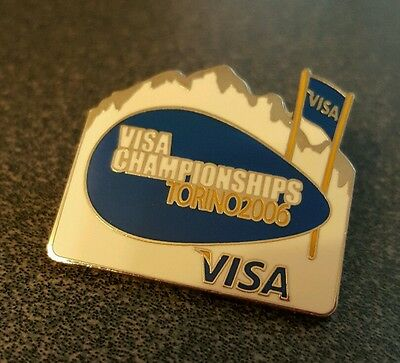 2006 Torino Olympic Visa Sponsor Skiing pin badge
