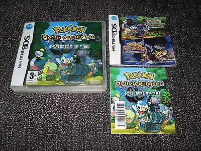 Pokemon Mystery Dungeon Explorers Of Time  - Nintendo Ds Case With Manual