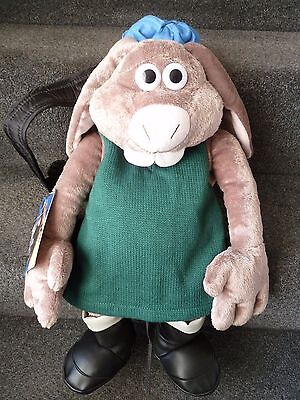 BNWT Rare Wallace and Gromit HUTCH Curse of theWere-Rabbit Back Pack Bag 2005