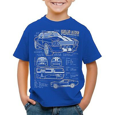 GT500 Eleanor Kinder T-Shirt mustang muscle car bullit shelby pony ford mc queen