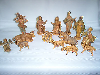 "~COMPLETE~ 15-Piece Vintage 1983 FONTANINI Italy NATIVITY FIGURINES 5"" Scale"