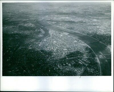 Vintage photo of An aerial view of Japan.