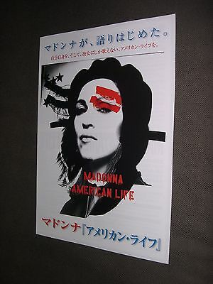 Madonna PROMO JAPAN American life HANDBILL FOLDER NEW rebel heart tour