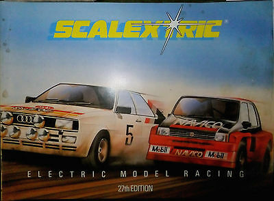 RARE VINTAGE SCALEXTRIC CATALOGUE 27th EDITION 1987 WITH PRICE LIST
