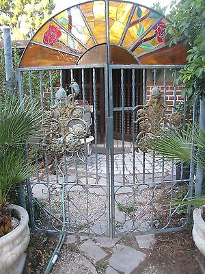 antique wrought iron pair ornate gates MUST PICK UP IN CA.