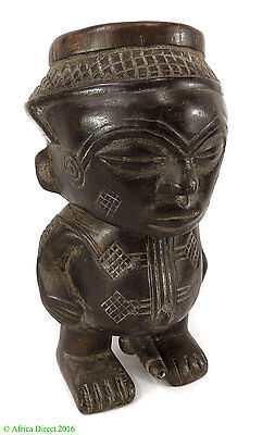 Kuba Cup Figural Head Congo African Art   SALE WAS $250