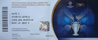 TICKET UCL Final 2017 Juventus FC vs Real Madrid # Cardiff