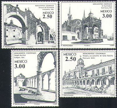 Mexico 1980 Buildings/Colonial Architecture/Convent/Hermitage 4v set (n34078)