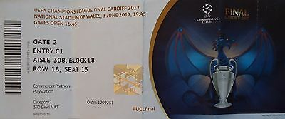 TICKET UEFA CL Finale 2017 Juventus Turin - Real Madrid # Cardiff