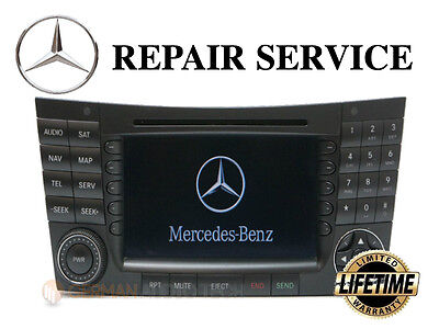 LCD REPLACEMENT SERVICE for MERCEDES COMAND NAVIGATION RADIO MONITOR DISPLAY