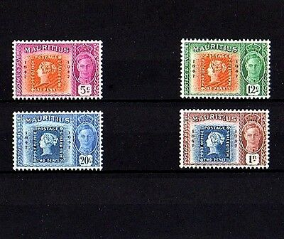 Mauritius - 1948 - Kg Vi - Stamp On Stamp - Centenary - Mint - Mnh - Set Of 4!