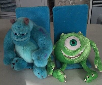 Unusual Disney Monsters Inc Mike And Sully Bookends